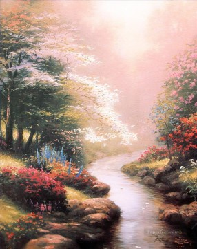 Petals Of Hope Thomas Kinkade Landscapes river Oil Paintings